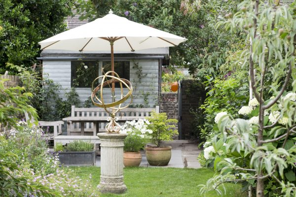 Try bleached tones for your wooden garden furniture