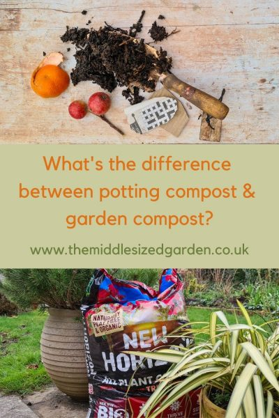 Garden compost v potting compost
