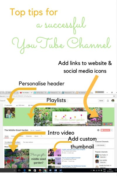 top tips for a successful YouTube Channel