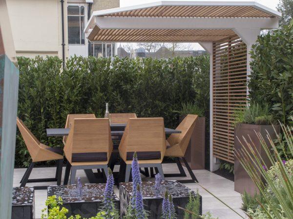 Matching garden seating