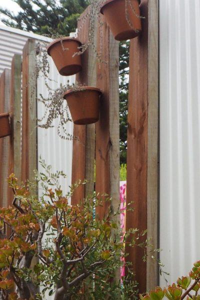 Corrugated iron privacy screen