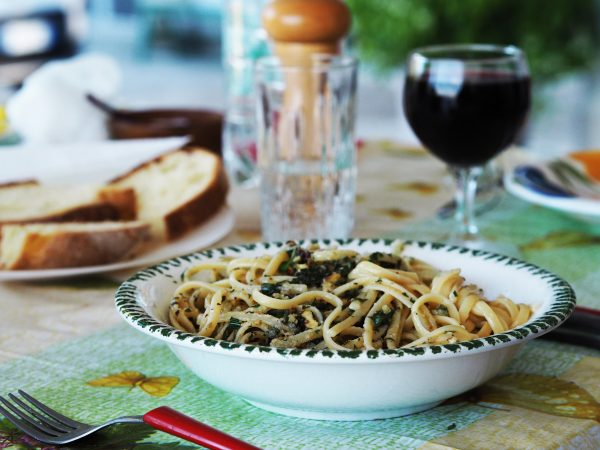 Homegrown basil pesto
