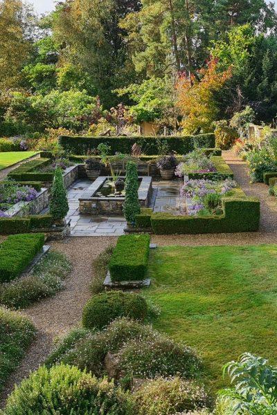 Formal garden Bath Priory