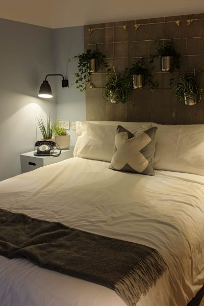 Decorate with indoor plants in the bedroom