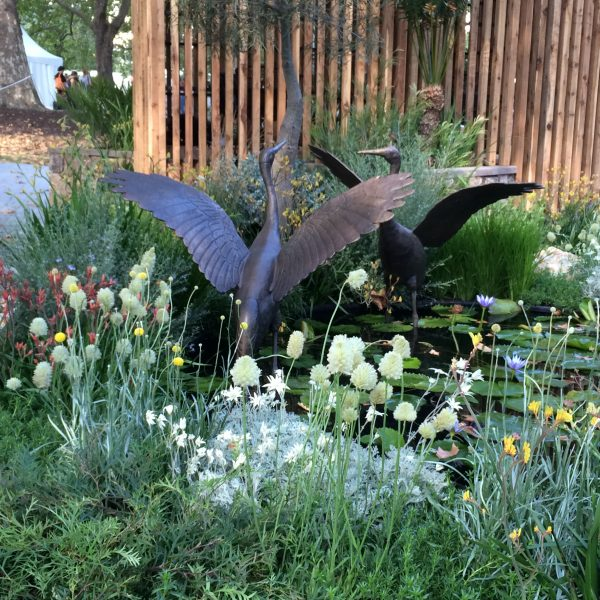Bird garden sculpture