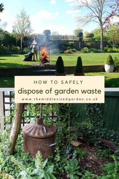 Incinerators for disposing of garden waste
