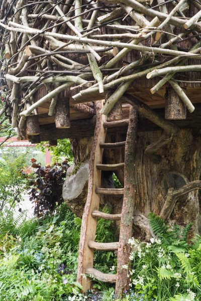 Add a tree house to a small garden