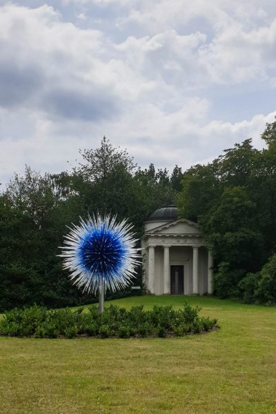 Garden sculpture by Chihuly at Kew Gardens