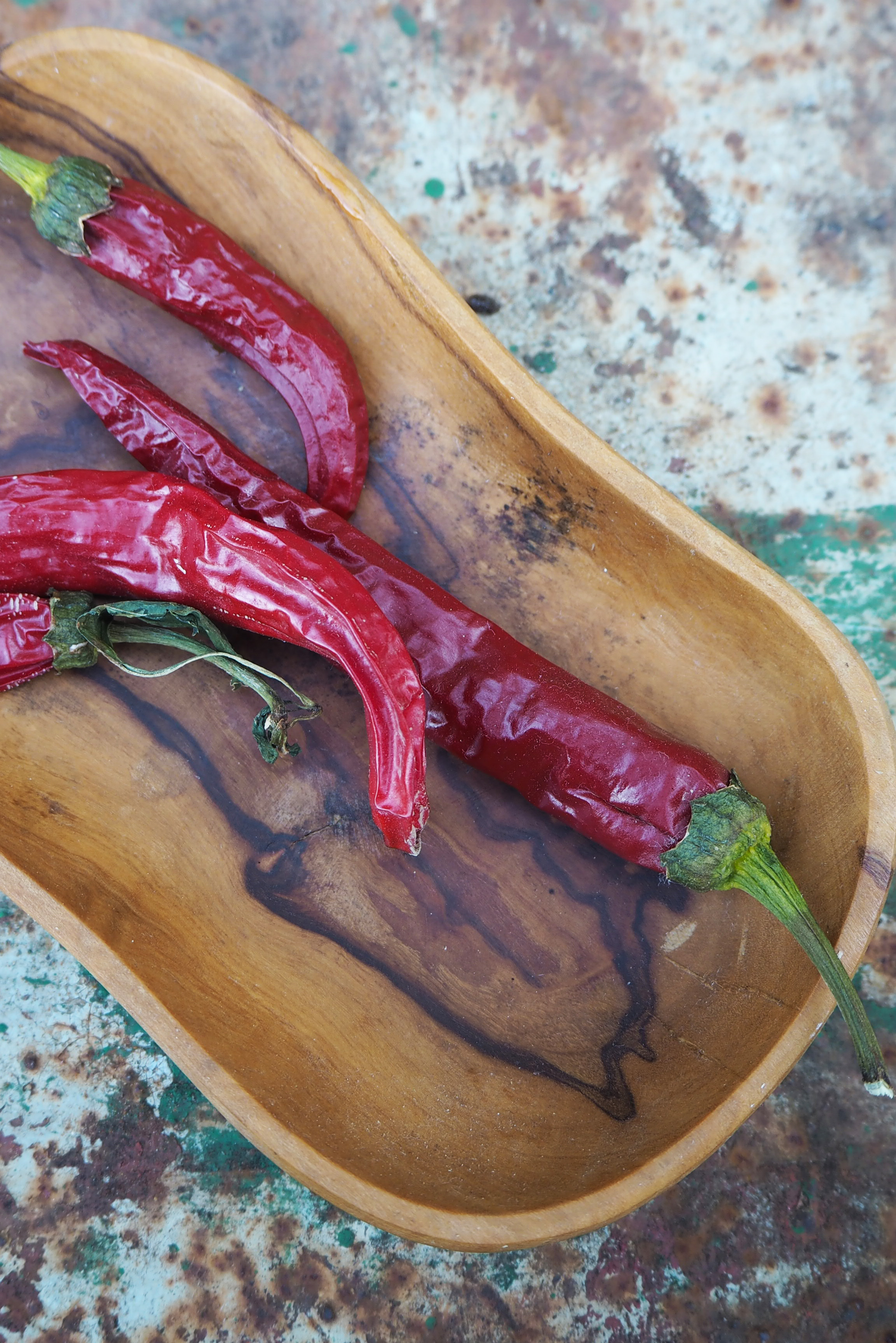 Homegrown and home-dried chillies