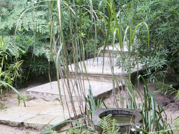 Steps for a three-dimensional garden at the Jardin Agapanthe