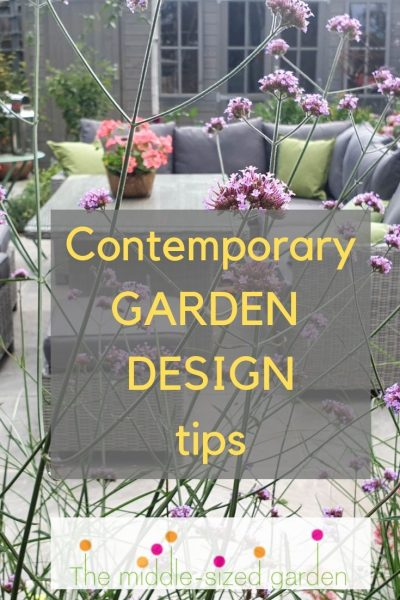 Contemporary garden design secrets for small gardens
