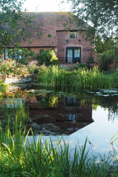 Think about what will be reflected in your garden pond #gardendesign #backyard