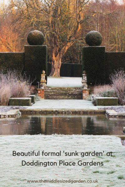 Formal sunk garden at Doddington Place Gardens