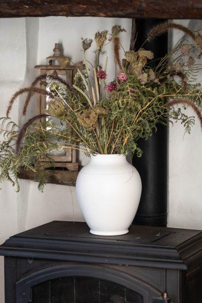 Contemporary dried flower arrangement