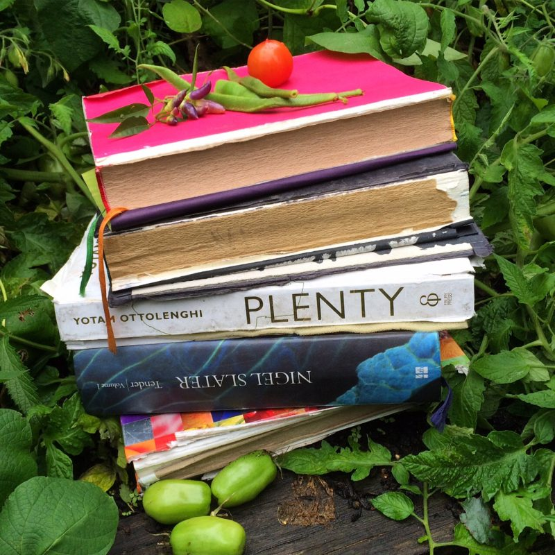 Five garden cookery books I use every day.