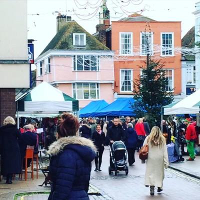 Christmas market, Faversham, England.