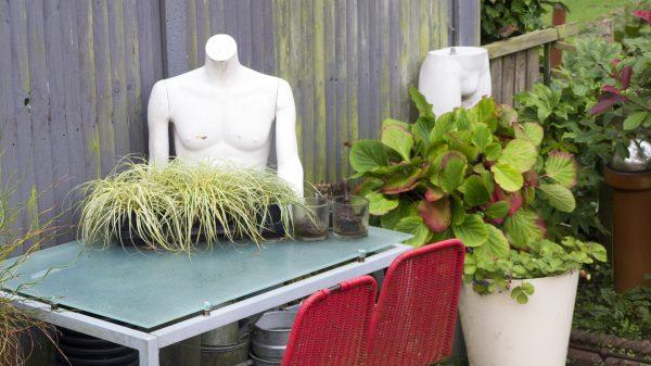 Use a shop mannequin as a planter