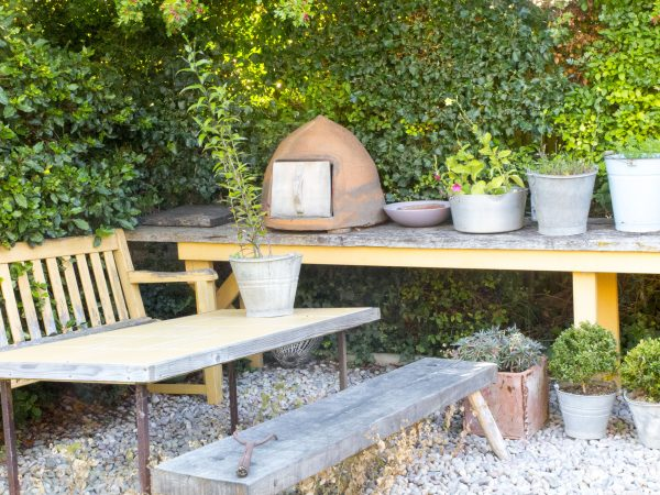 Paint garden benches and tables