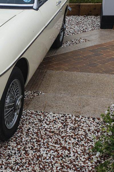 Mix of driveway surfaces