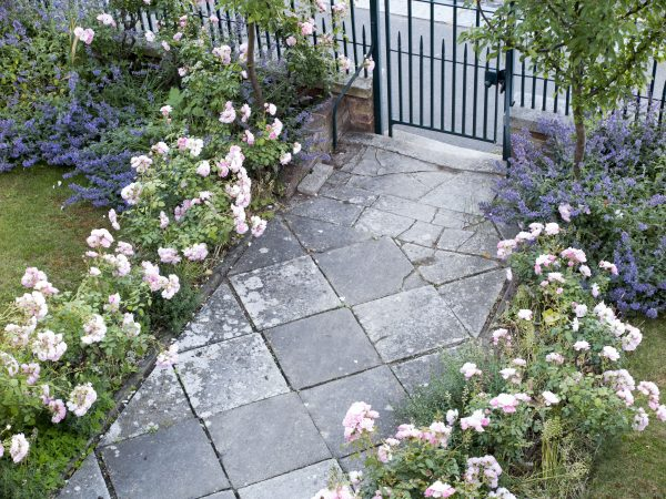 Stone paved garden paths