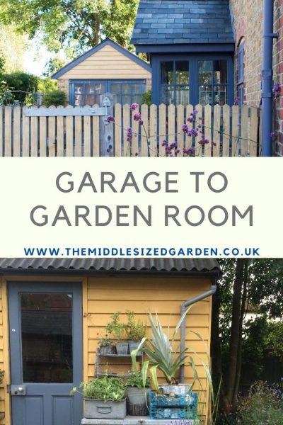From garage to garden room before pix