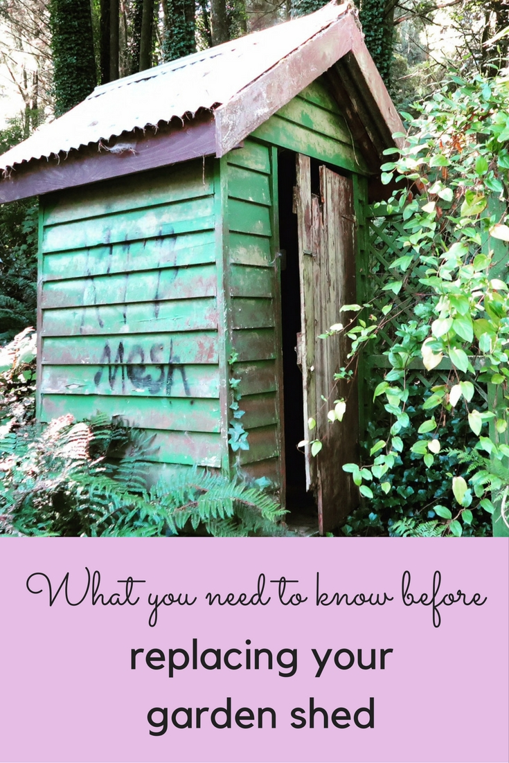 Tips on replacing and repairing sheds