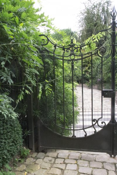 Over-sized gates create a majestic entrance