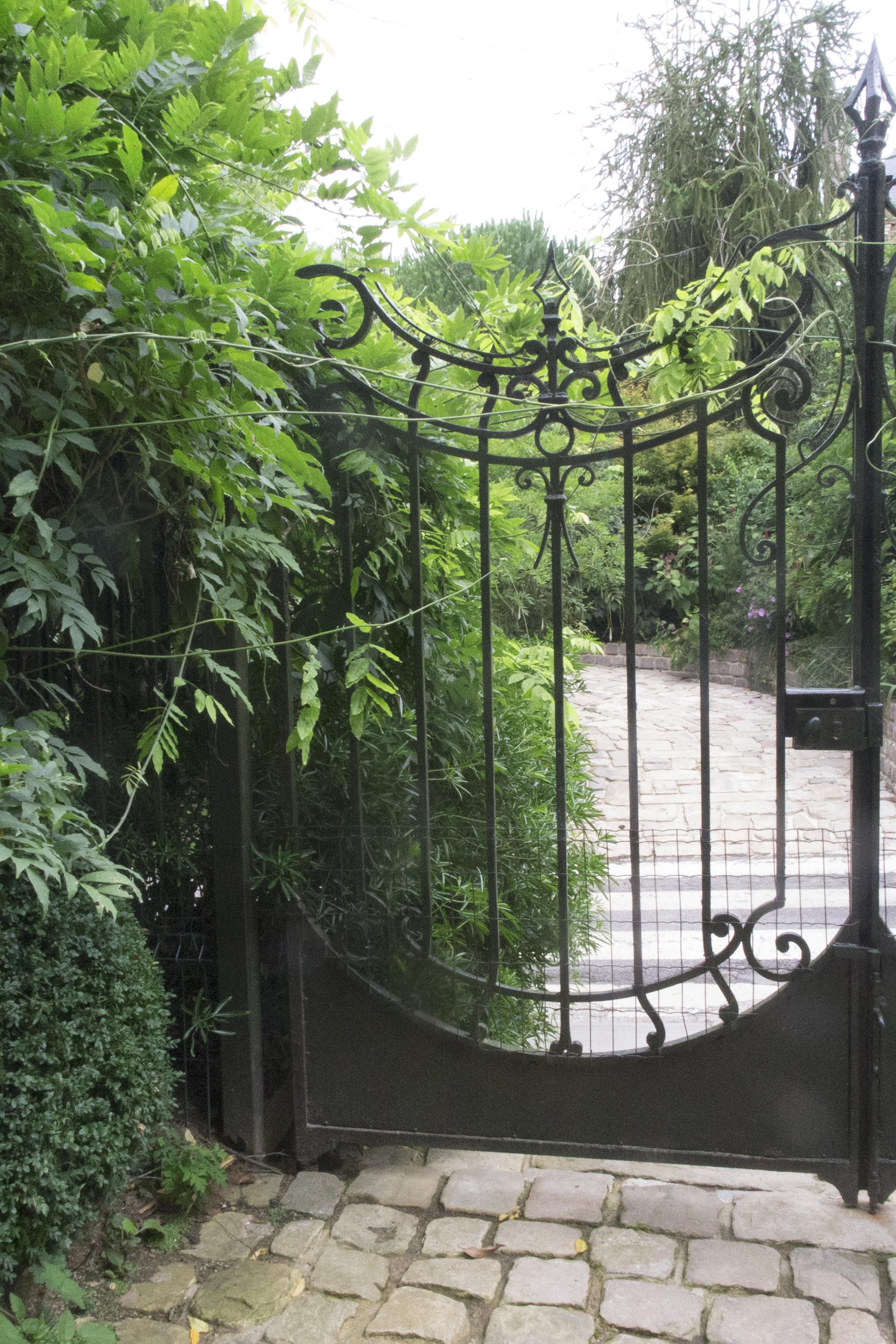 Over-sized gates create a majestic entrance