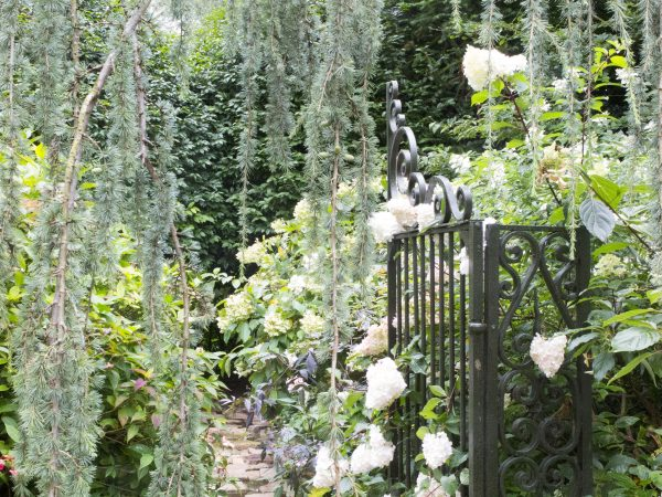 Use a gate to mark out areas of the garden.