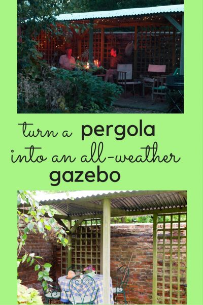 Turn a pergola into a simple gazebo