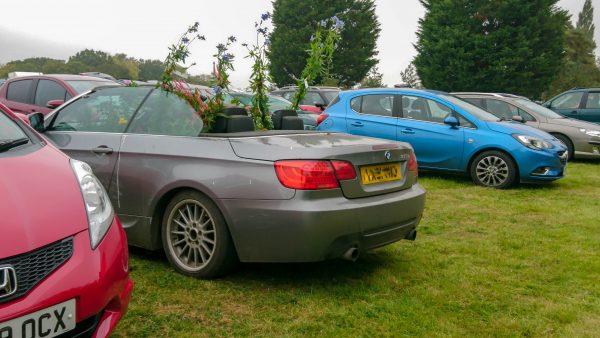 Car parked at Great Dixter autumn fair