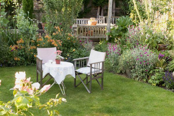 Where do you put the vegetable garden in a wide garden?