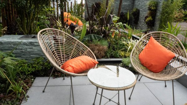 Add colour with garden furniture or pots