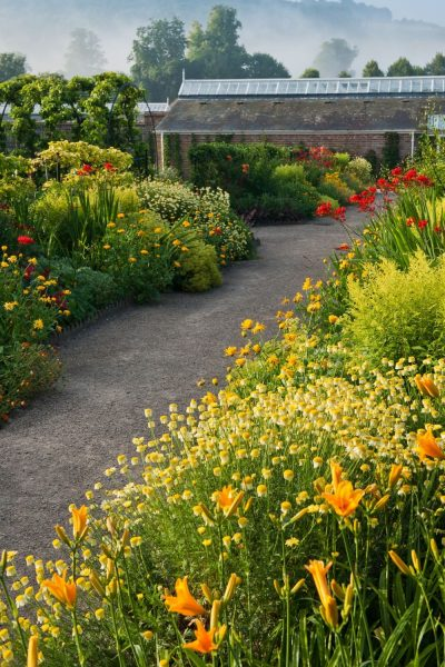 'Hot' borders at West Dean gardens
