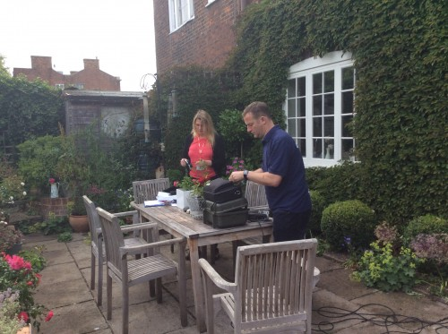 BBC Radio Knet Sunday Gardening outside broadcast