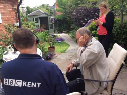 BBC Radio Kent outisde gardening broadcast