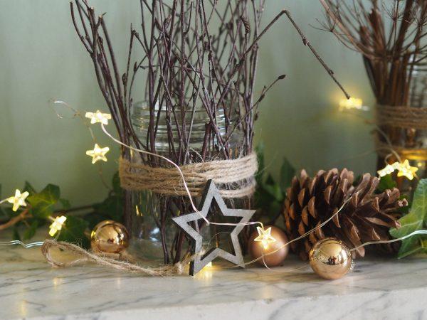 Christmas jam jar decorations