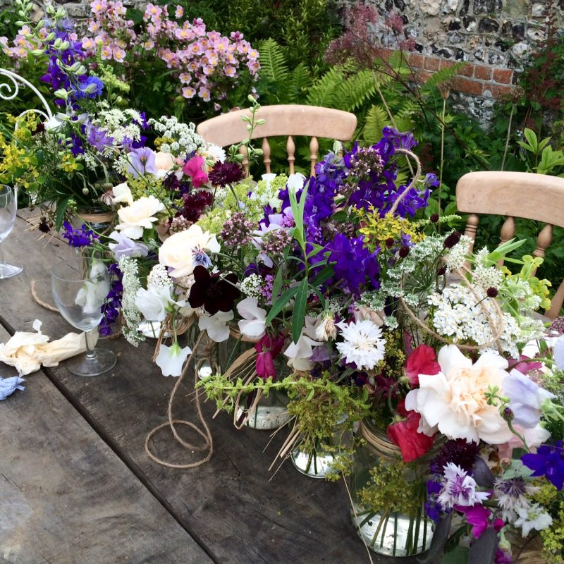 Jam jars are used in the best garden party ideas