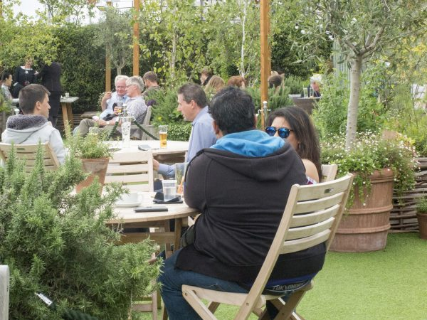 John Lewis roof garden terrace