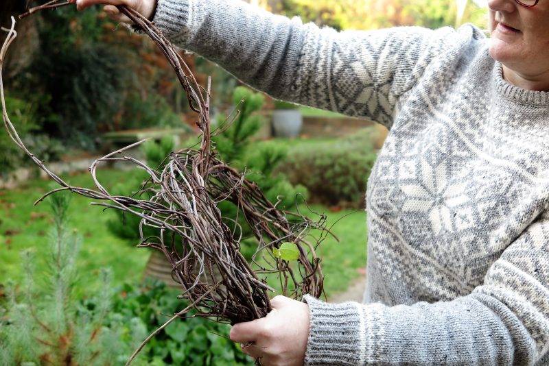 Step 2 - make a twig wreath