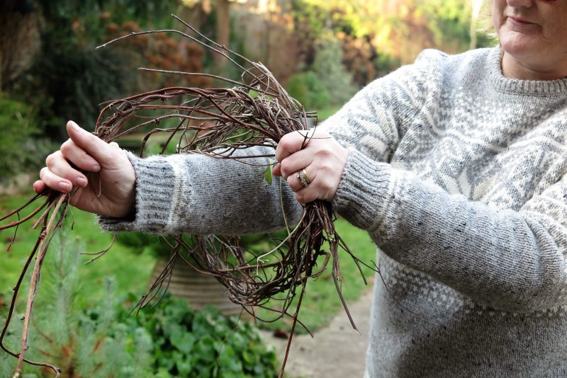 Step 3 - making a twig wreath