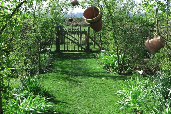 A mown garden path for country chic