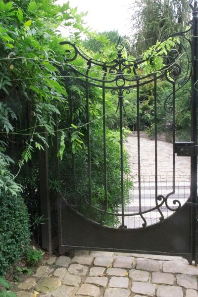 Elaborate antique garden gate