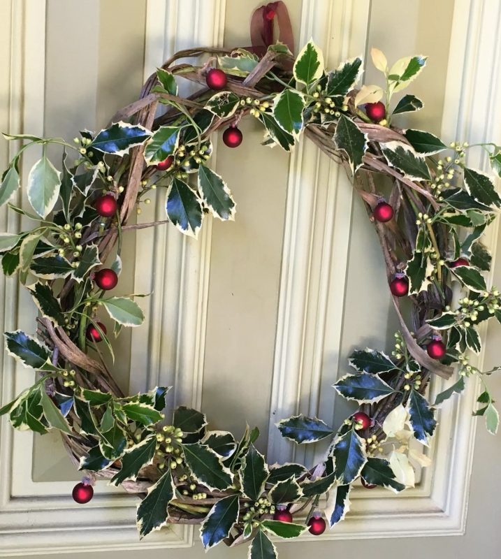 Home-made Australian wreath