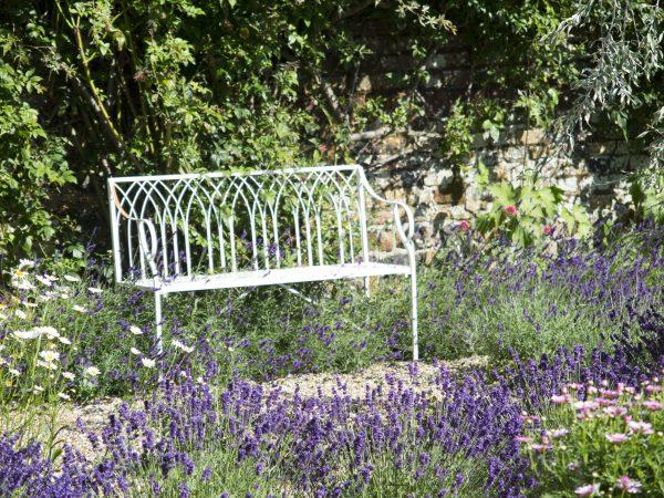 Gothic-style garden bench