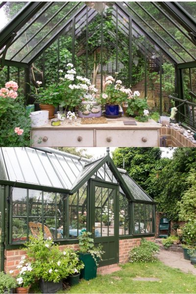 Treat a greenhouse as a major feature or focal point