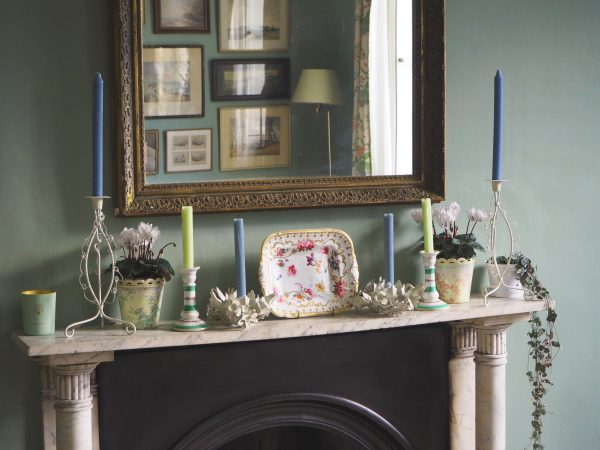 Mantelpiece with house plants