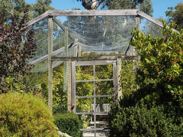 Put a bench inside your netted enclosure
