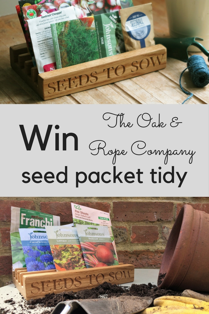 Win an Oak & Rope Seed Packet Tidy
