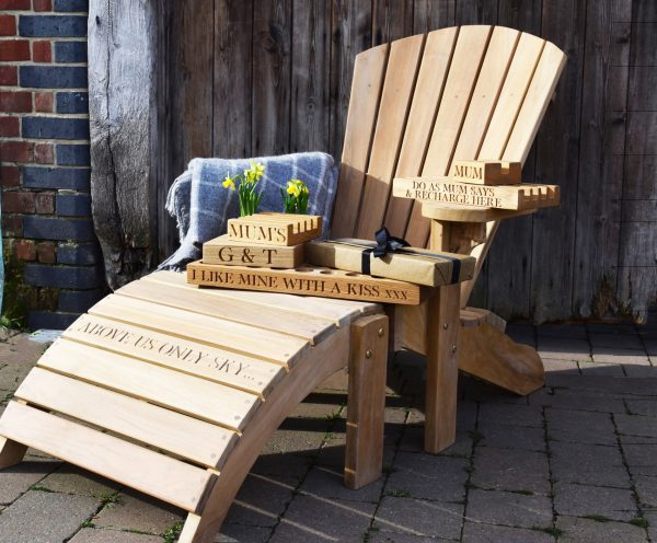 Teak Oak & Rope sun lounger